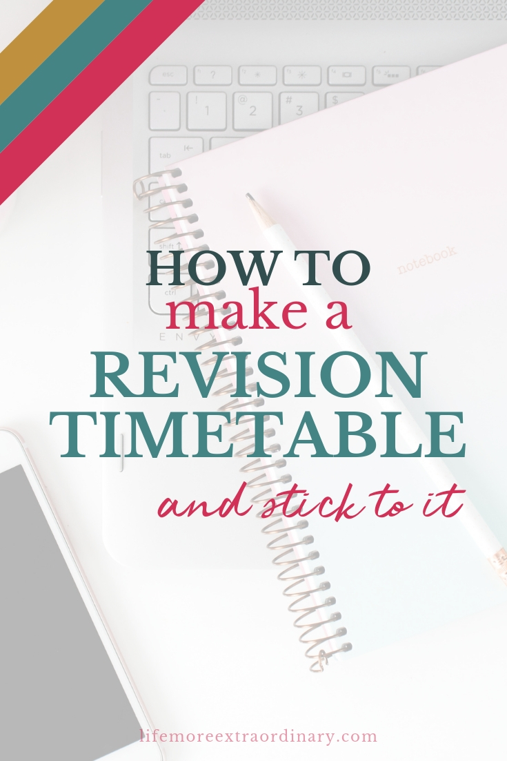 how to make a revision timetable and stick to it #examtips #studytips #ALevels #GCSEs