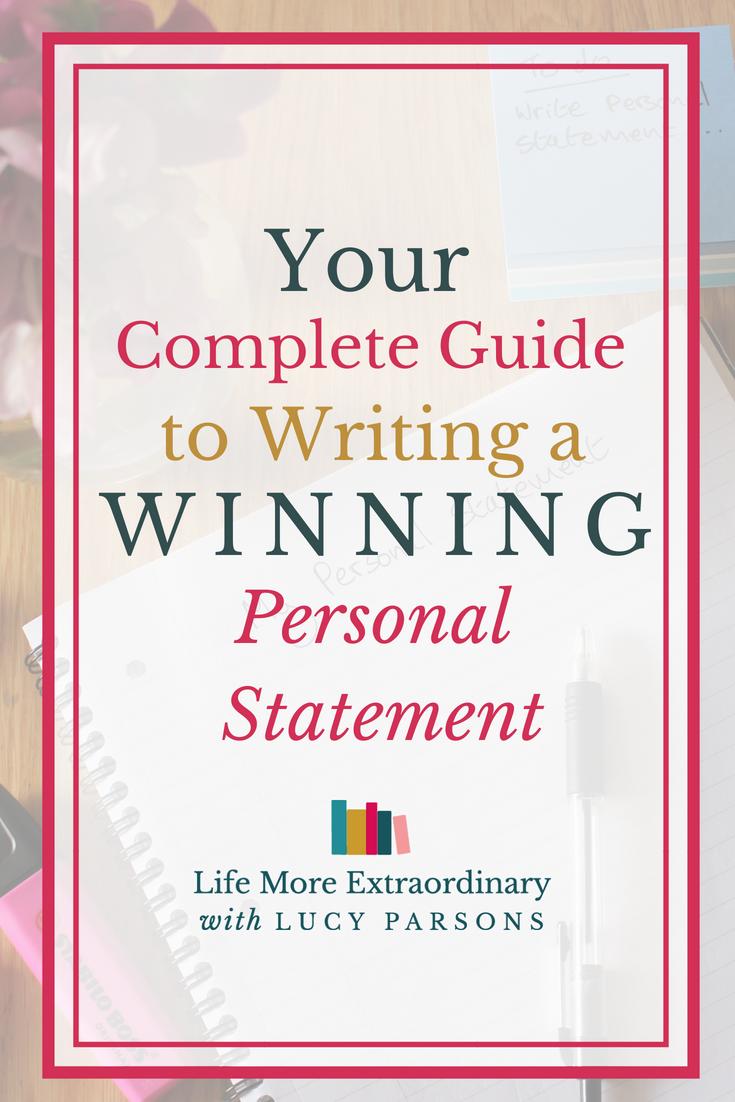 personal statement help