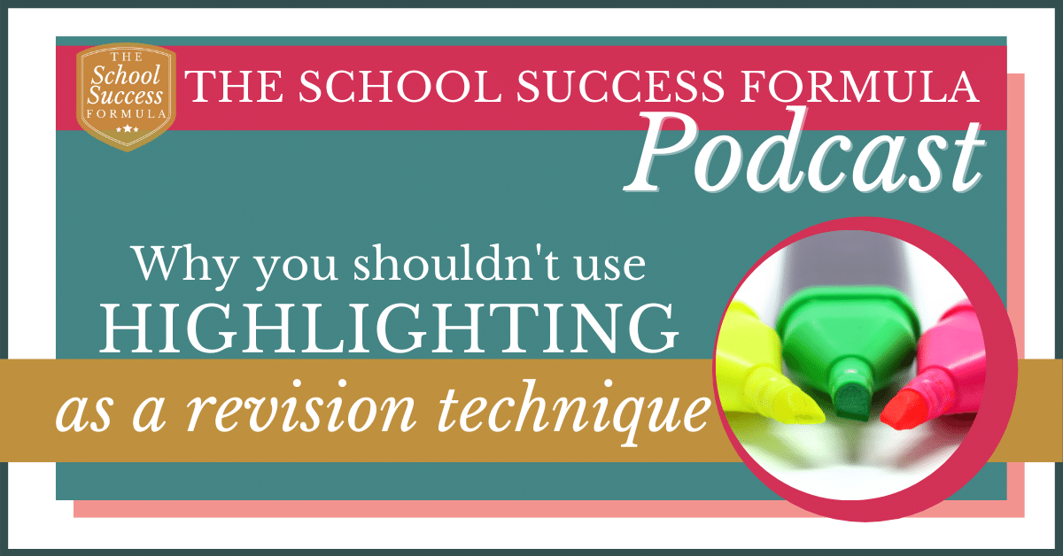 Why you shouldn't use highlighting as a revision technique