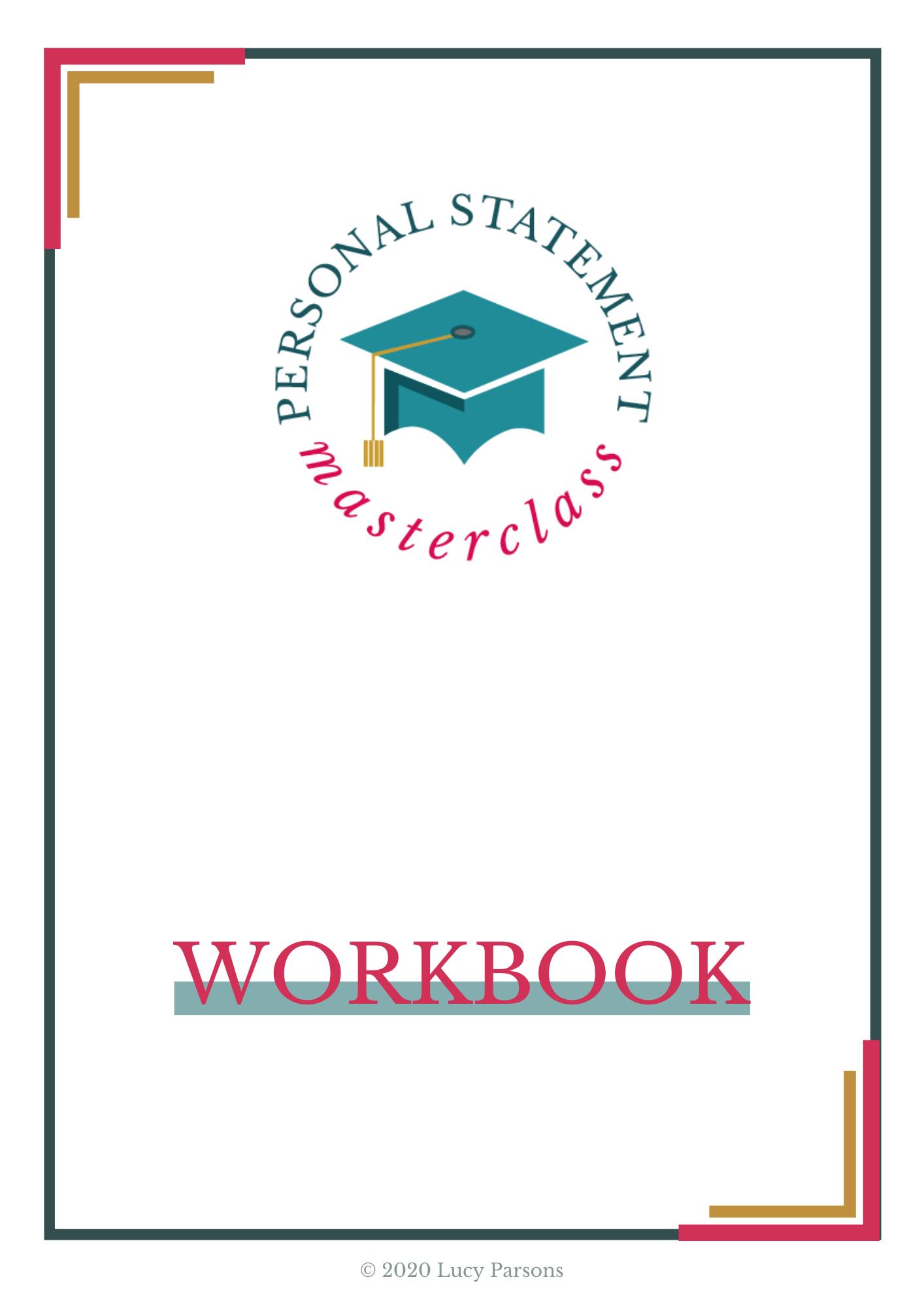 Personal Statement Masterclass workbook
